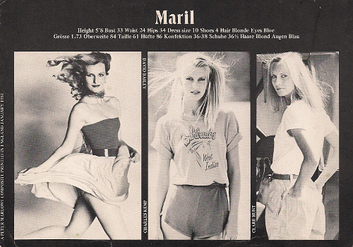 Maril Kemp, Laraine Ashton, London Peter Marlowe Models Composite ©