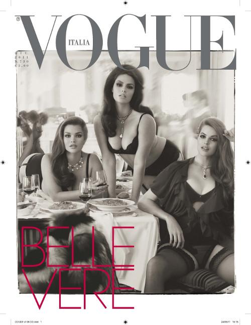 Tara Lynn, Candice Huffine & Robyn Lawley | Vogue Italia Giugno | Published: 03/06/2011