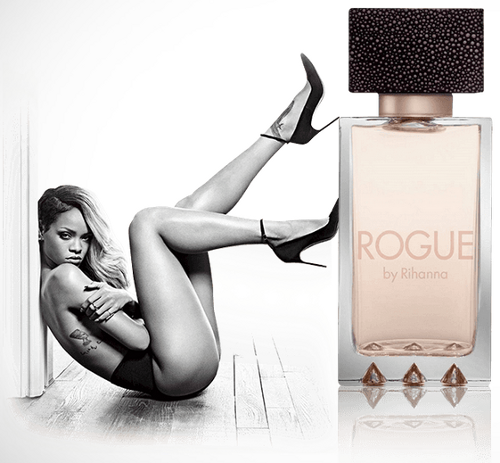 ROGUE by Rihanna - sexually suggestive perfume ad.