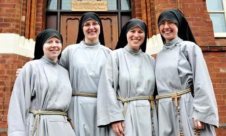Nuns from St Joseph's Convent, Leeds. Photograph: Marcin Mazur CCN